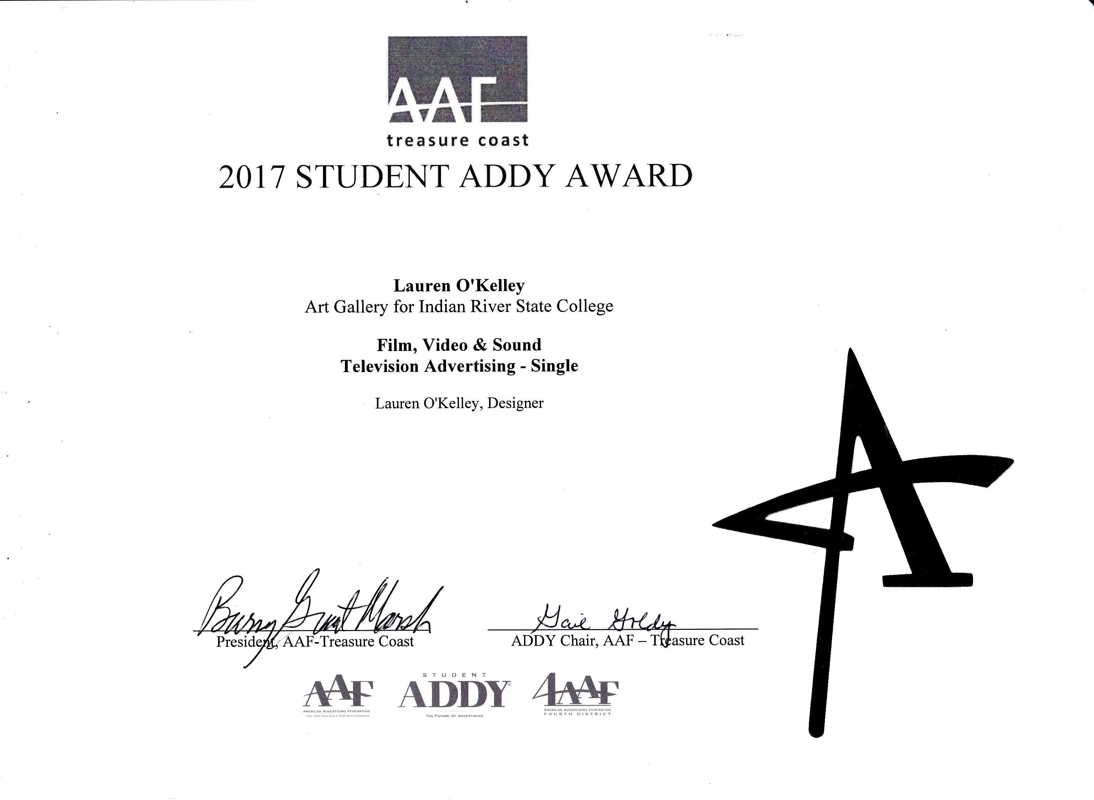 American Advertising Federation 2017 AAF Addy Awards