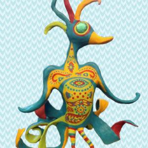 Tropical Bird Sculpture